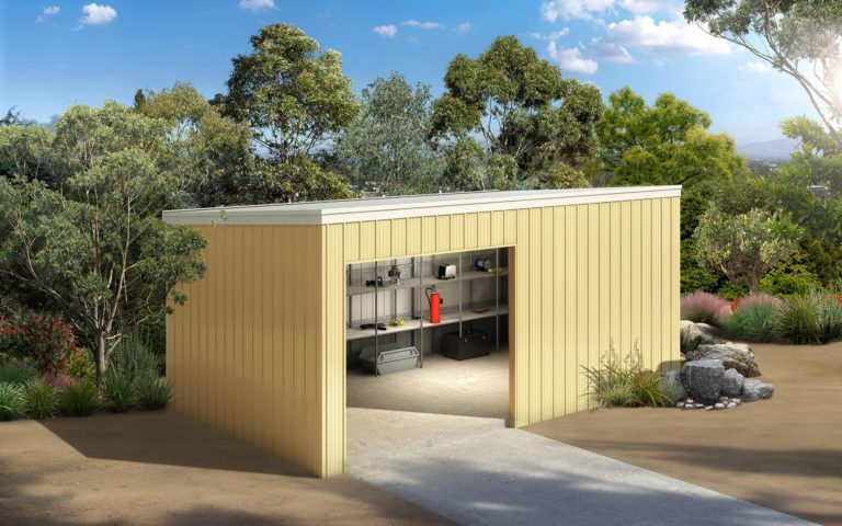 Skillion storage shed