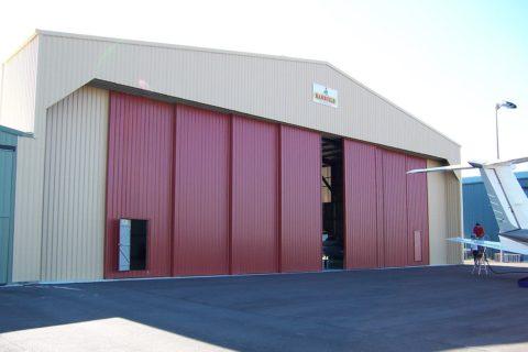 Hangar sliding doors
