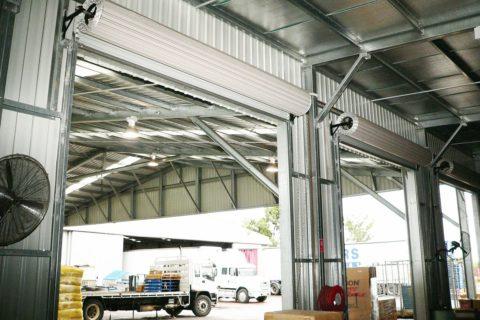 Mini storage warehouse roller doors